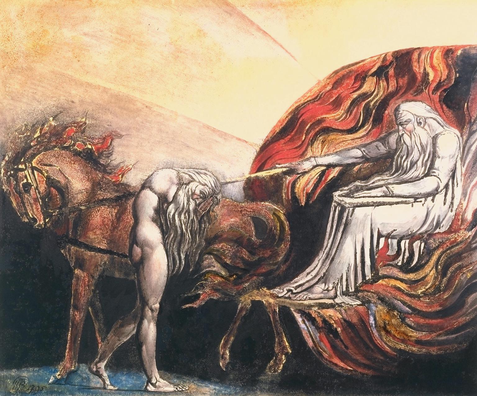 Dios juzgando a Adán