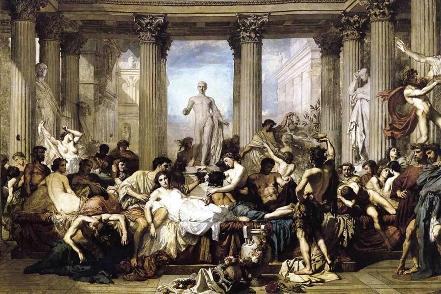 La decadencia romana