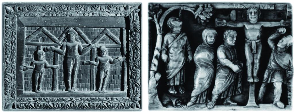 Primeras representaciones de la crucifixión de Cristo en el siglo V.