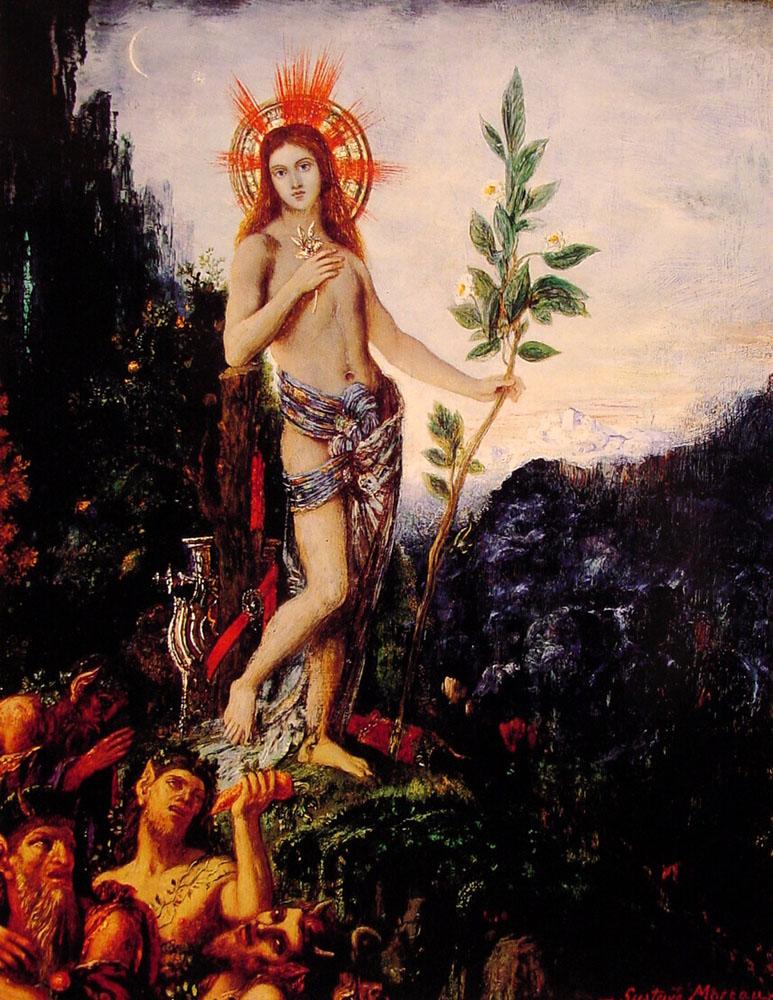 Gustave Moreau, Apolo y los sátiros, 1895.