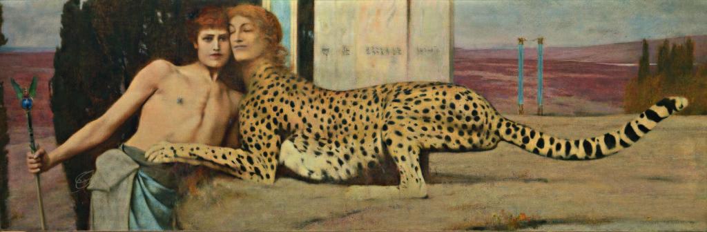 Fernand Khnopff, Caricias (El Arte) 1896, (© Royal Museums of Fine Arts of Belgium, Brussels / foto J. Geleyns)