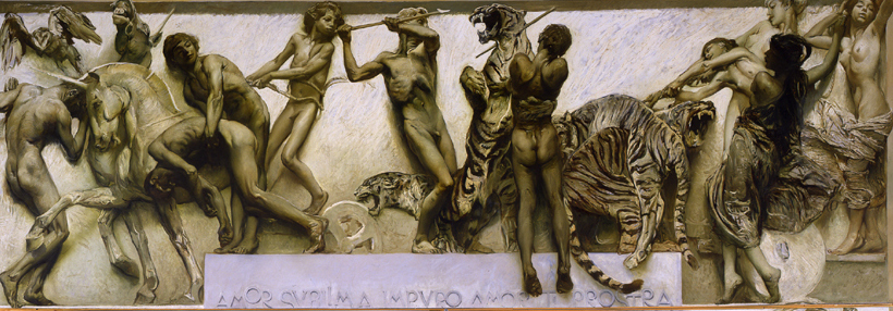 Gulio Aristide Sartorio. L'Amore, 1906-1907 (dal ciclo Il poema della Vita Umana). Venezia, Fondazione Musei Civici di Venezia, Galleria Internazionale d'Arte Moderna di Ca' Pesaro.
