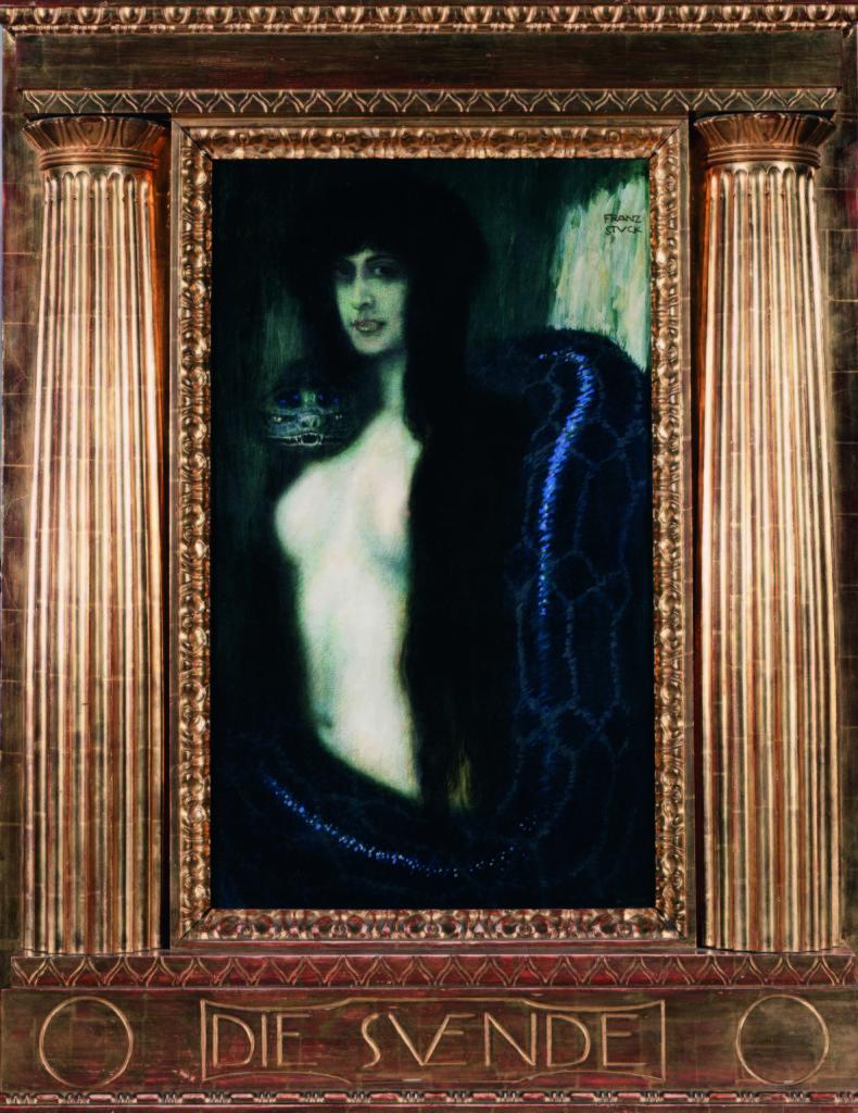 Franz von Stuck, El pecado, 1908, (© Galleria d'Arte Moderna Empedocle Restivo, Palermo)
