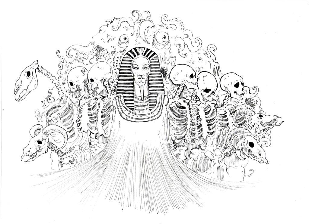 Nyarlathotep. Ilustración: Samarcanda Espinosa.