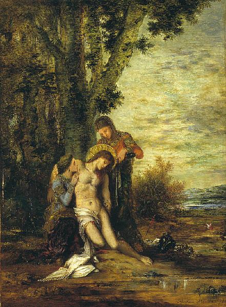 Gustave Moreau, El martirio de san Sebastián, 1869.