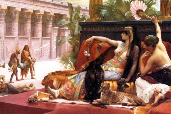 Alexandre Cabanel. Cleopatra probando venenos con prisioneros condenados, 1887. Royal Museum of Fine Arts, Amberes.
