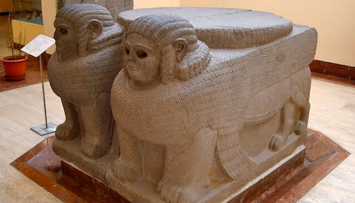 La esfinge doble del Imperio Hitita