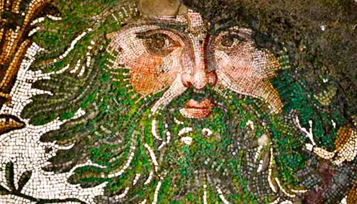Atlantes en el Museo de los Mosaicos